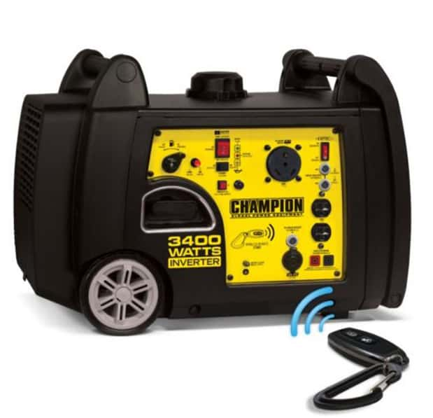 Quietest Portable Generators - Champion 3400-Watt Wireless Start Inverter