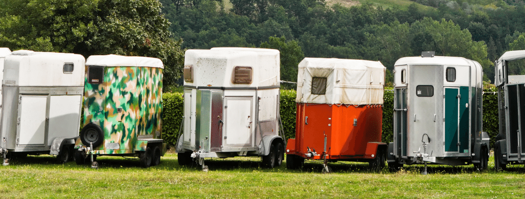 Line Of Used Horse Trailers