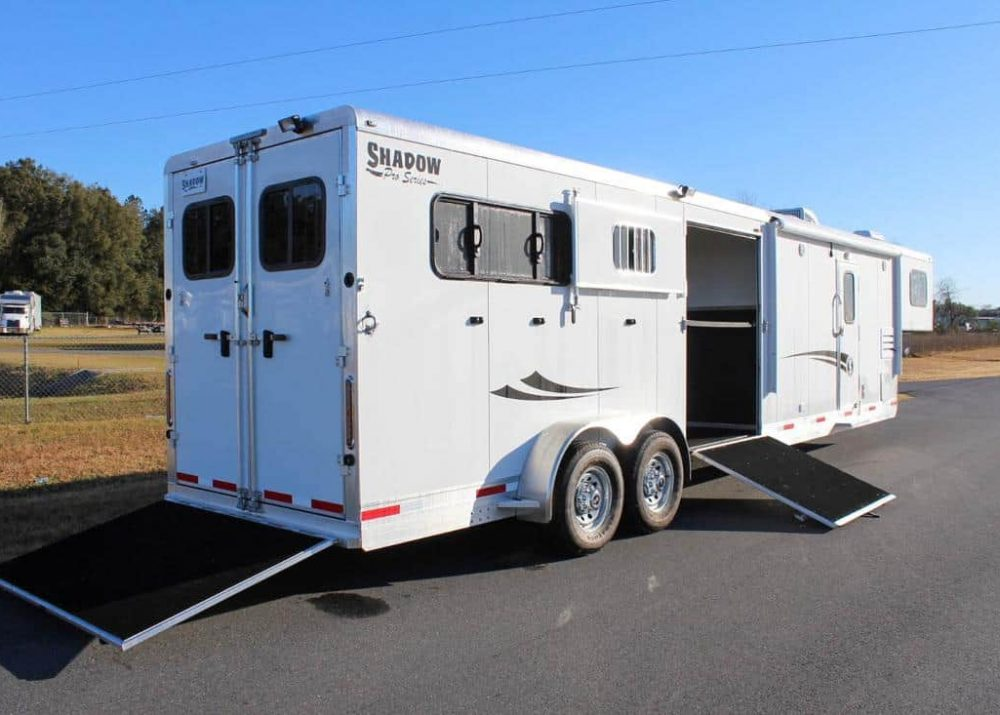 Side Back Load Horse Trailer